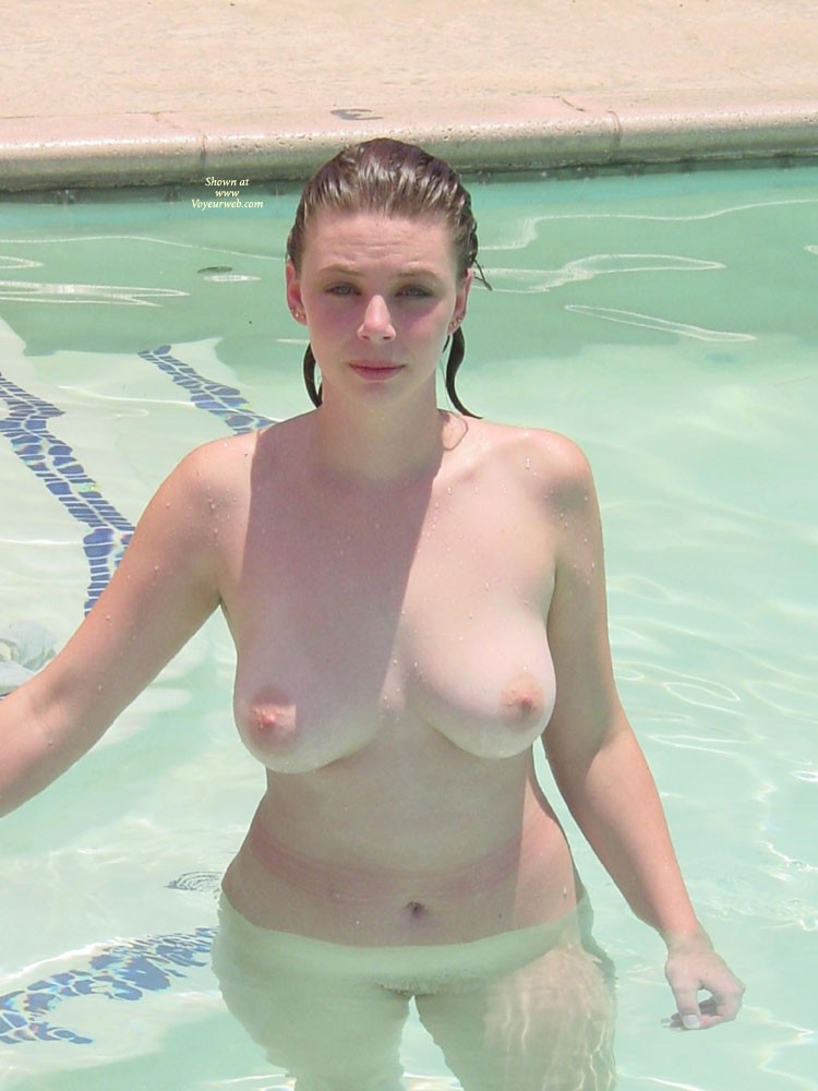 Patricia Playing In The Pool - Big Tits, Brunette Hair, Wet, Teens , Patricia Loves Playing In The Hotel Pool And I Love To Look At Her Playing...U Too?
