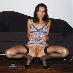 Kathy - Nude Girls, Brunette, Lingerie, Bush Or Hairy, Amateur, Stockings Pics, Legs Spread Wide Open
