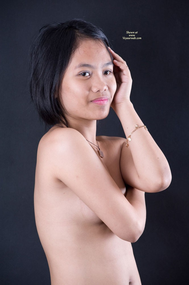 More From Her 1st Shoot - Asian Girl, Brunette Hair, Hairy Bush, Small Tits , Here Are More From Her First Shoot.  And For Those Who Asked, Yes She Is A Virgin.