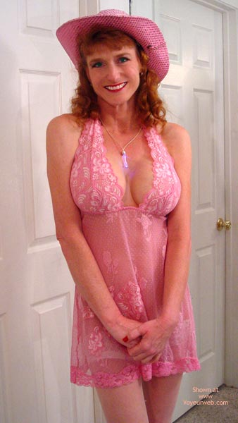 Pic #1 Lg Sandy In And Out Of Pink Lingerie