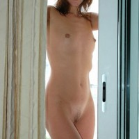 Naked Girl Standing By A Window - Brown Hair, Hairy Bush, Small Breasts, Small Tits, Naked Girl, Nude Amateur , Full Frontal Nude, Tiny Tits, Young, Balcony Babe, Nude On The Balcony, Flat Chest