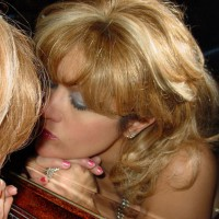 Kissing Mirror - Blonde Hair , Mirror Reflection, Face In Mirror, Narcissus, Self Kiss, Self Love, Close Up, Mirror Shot, Blonde Reflection Shot, Trying To Kiss Herself