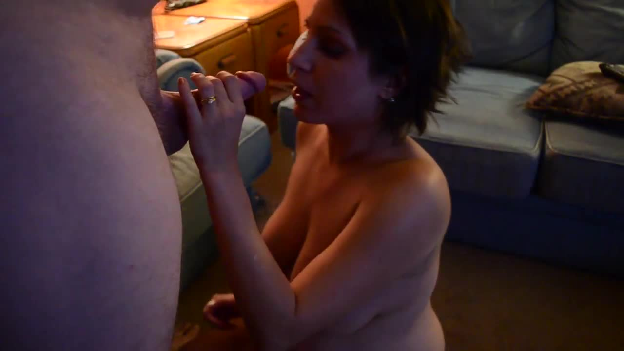 Pic #1Wifey Takes a Facial - Blonde, Brunette, Cumshot