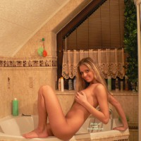 BLonde Nude Girlfriend In A Jacuzzi - Blonde Hair, Naked Girl, Nude Amateur , Nude Sitting One Edge Of Bathtub, Bathroom Poses, Smiling And Sittting On Tub, Naked On A Tub, Side View, Blonde Girl, Showing Dangling Pussy Lips, Thin And Sexy Body, Hand Covering Tits
