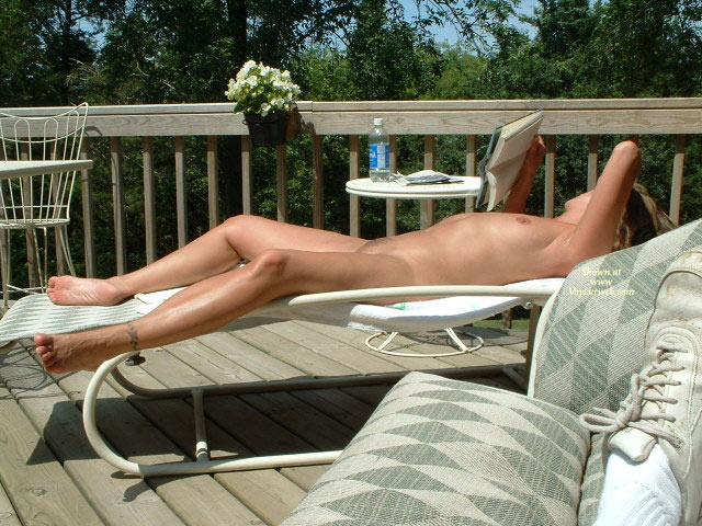 Nude Wife On Deck With Book - Spread Legs, Naked Girl, Nude Amateur, Nude Wife , Naked Sun Tanning, Legs Spread Wide Apart, Tanning Her Twat, Lying On Her Back, Fully Nude On Lawn Chair, Tanning, Enjoying The Sun Nude, Nude Lying On Back Deck, Legspread On The Deckchair, Lying Nude On Deck, Nude Sunbathing