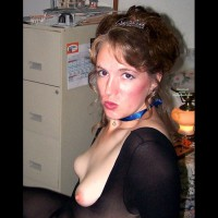 Small Milf Tits - Milf, Small Tits , Breasts Exposed, Black Sheer Body Stocking, Tit Flash, Creamy Tits, Tits Out In The Office, Blue Ribbon, Pouting At The Camera