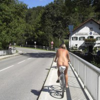 Nude Bike Riding - Exhibitionist, Nude In Public, Naked Girl, Nude Amateur , Naked Bicycle Ride, Nude Biking, Naked Sightseeing, Nude Leisurely Cyle, Riding A Bike Nude, Feeling Free On A Bike, Pedaling Her Ass All Over Town