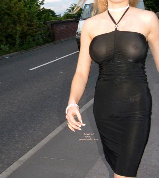 Pic #1 Public Flashing In Very Revealing  Dress