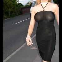 See Through Black Dress - Huge Tits , See Through Black Dress, No Bra And Huge Tits, Pink Panties Through See Through Dress, Sheer Dress Outdoors, Sheer Tube Dress