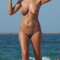 Big Ones at Nude Beach - Beach, Big Tits, Mature