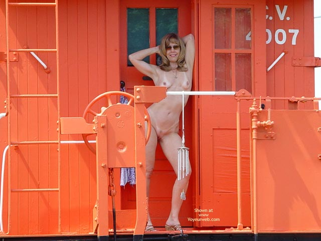 Fully Nude  - Full Nude, Nude Outdoors, Standing, Tan Lines , Fully Nude , Outdoors, Tanlines, Standing, Naked On Caboose