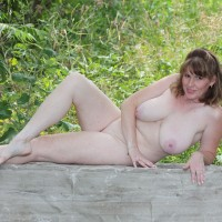 LisaJane Actually On The Path This Time - Big Tits