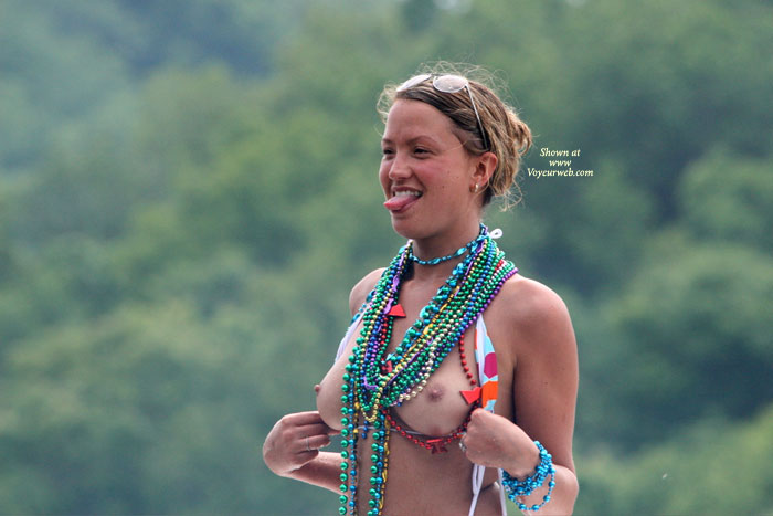 Flashing Tits With Beads - Flashing, Perfect Tits, Naked Girl, Nude Amateur , Outdoors, Many Beads, Young Flashing, Standing Nude - Tits And Tongue, Showing Her Tongie, Pulling Top Down, Flashing Tits, Medium Round Boobies Partially Obscured By Many Beads, Sticking Tongue Out