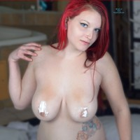 Whip Cream Bikini - Big Tits, Redhead , Ashley Loves Whip Cream.  So The Whip Cream Bikini Was Right Up Her Alley