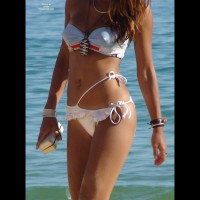 Erected Nipples Under Bikini - Brown Hair, Erect Nipples, Long Hair, Navel Piercing, Perky Tits , Girl Walking On Beach, White Bikini, Perky Bikini Top, Perky Nipples, White Exotic Bikini, Long Lean Body, White String Bikini, Long Reddish Brown Hair