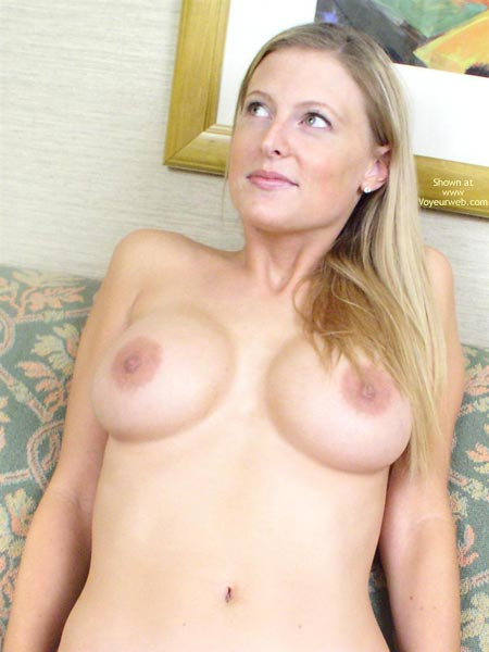 Naked Upper Body - Long Hair , Naked Upper Body, Long Blonde Hair, Fine Fine Teats