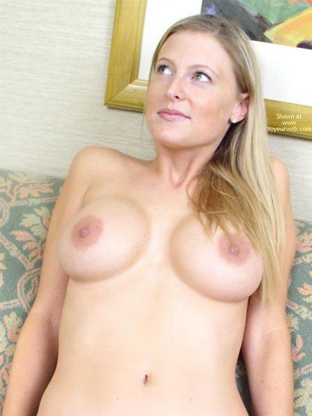 Naked Upper Body - Long Hair , Naked Upper Body, Long Blonde Hair, Fine Fine Teats