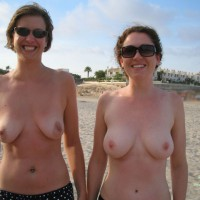 Two Girls Showing Their Tits On The Beach - Topless , Topless On Beach, Toppless Beach, Breasts And Belly Exposed, Smiling To Camera, Topless Pair Holiday Shot, Breasts Beach Milfs, Toppless Outdoors, Mature Pair Showing Off Tits, Smiling Faces, Two Women Topless On Public Beach