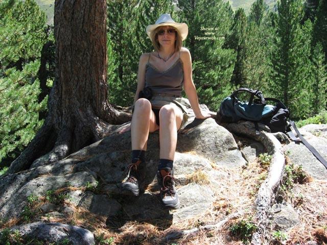 Alpine Walking , Alpine Walking Can Be So Tiring, It's Very Sensible To Take Regular Breaks :-)