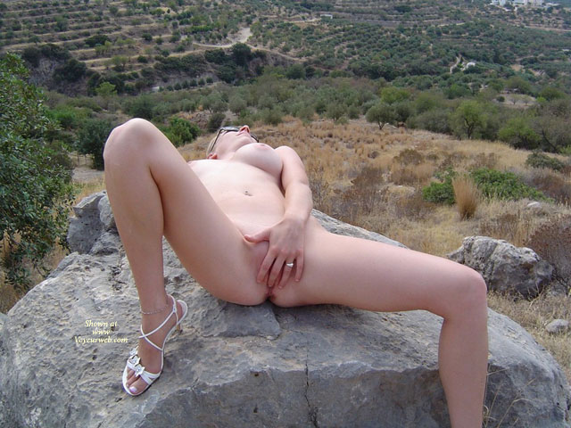 Nude Girl On A Rock - Huge Tits, Spread Legs, Naked Girl, Nude Amateur , White High Heel Sandals, Creamy Skin, Naked Outdoors, Spread Legs, Touching Herself, Fingering Pussy