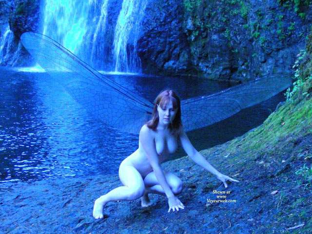 Naked Fairy At A Waterfall - Dark Hair, Naked Girl, Nude Amateur , Wearing Wings, Squatting Down Position, Crawling On Rocks By Waterfall, Naked Squatting On Ground Outside, Nude On All Fours, Nude Squatting Near Waterfall, Nude Squatting And Leaning On Hands Outside, Nude Blue Dragonfly, Nude Frontal Kneeling And Leaning On Hands, Nude With Dragonfly Wings