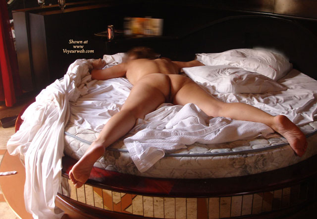 Nude Spread Eagle On Round Bed - September, 2007 - Voyeur -4257