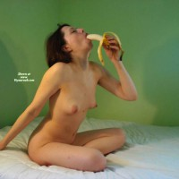 Nude Sitting On Bed Eating Banana - Naked Girl, Nude Amateur , Sitting On Bed, Crosslegged On Bed, Eating A Banana, Leaning On Arm Outstretched To Rear, Head Thrown Back, Erect Pert Nipples, Simulated Blowjob With Props, Sucking On Banana, Girl Sucking Banana, Sitting On Bed, Banana Fellatio