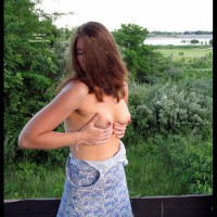 Wife Exposing Her Tits - Big Tits, Brown Hair, Erect Nipples, Hard Nipple, Long Hair, Topless , Topless Girl Holding Her Own Tits, Big Erected Nipples, Outdoor Topless, Large Erect Nipples