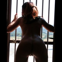 Bent Over ASS Silhouette - Brown Hair, Long Hair, Shaved Pussy, Naked Girl, Nude Amateur , Nude Behind Bars, Nude By The Window, Spreading Legs, Nice Ass Bent Over, Heart Shaped Ass, Large Gap, Open Clam