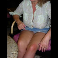 Upskirt , Met This Guy While On Vacation. I Got Pretty Drunk And Let Him Take A Few Pics. He Emailed These And Said He Had More From The Room. I Don't Know What To Expect