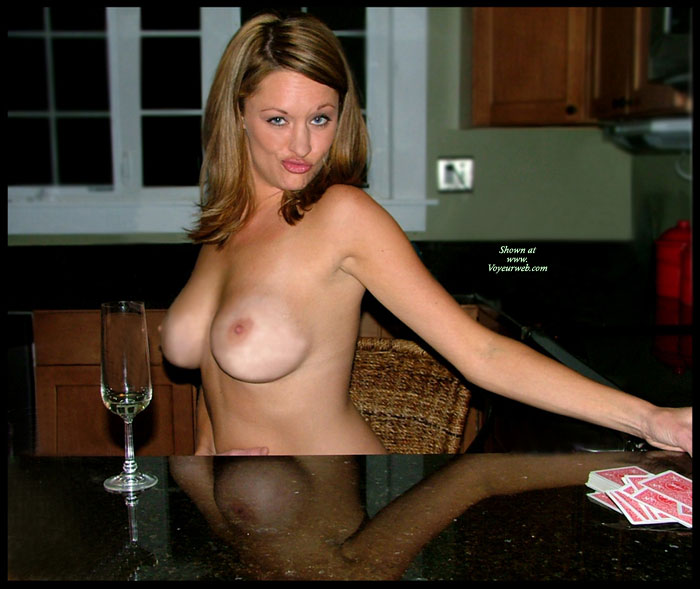 Topless Wife Making Funny Face - Brown Hair, Topless, Hot Girl, Looking At The Camera, Sexy Face, Sexy Wife, Topless Wife , Big Boobs, Empty Glass, Making A Face, Topless At Table, Light Brown Hair, Bj Lips, Card Shark, Loosing At Strip Poker Game, Full Round Breasts, Reflection In Table
