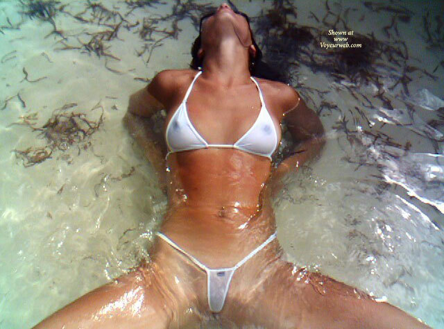 Sexy Bikini - Shaved Pussy, Small Tits, Spread Legs , Legs Apart, Spread In Beach Water, Sheer White Weacked Weasel, Woman In Water, Small White Bikini, Spread In Bikini, Transparent Bikini, Transparency In Water, Wicked Weasel, See Through Bikini, White Bikini In Water, White And Wet, Wet Bikini, Sitting In The Water