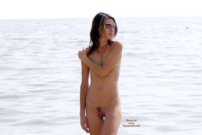Skinny Brunette - Brunette Hair, Hairy Bush, Sunglasses, Trimmed Pussy, Naked Girl, Nude Amateur , Covering Tits, Partly Shaven Pussy, Walking On Beach Nude, Nude On The Beach, Young Naked Girl At The Beach, Arm On Shoulder Covering Breasts, Brunette Hair, Nude Girl Standing