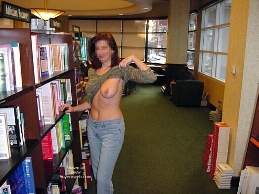 Flashing In Public - Flashing , Flashing In Public, Bookstore, Big Breast, Library Flash, Flashing Tit, Sweater Exposed Breast Library
