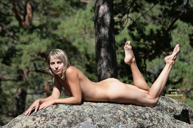 Nude Up On Elbows Laying On Stomach With Toes Pointed - Naked Girl, Nude Amateur , Naked Looking At Camera Leaning On Elbows, Hot Chick On The Rocks, Sun Bathing On Rock, Tanning Her Ass, Pointed Toes, Nude Laying On Stomach Outdoors, Nude Outdoors On A Rock, Nude On The Rocks, Beauty On The Rocks, Love On The Rocks