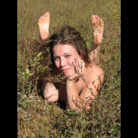 OUTDOOR NAKED SMILE - Nude Outdoors, Naked Girl, Nude Amateur , Laying On Stomach, Feet In Air, Nude In Weeds, Chin On Hand, Sole Of Feet, Nude In Nature, Breast On Ground, Smiling Directly At The Camera, Naked In The Weeds, Posing In The Nude Outdoors, Lying On The Ground
