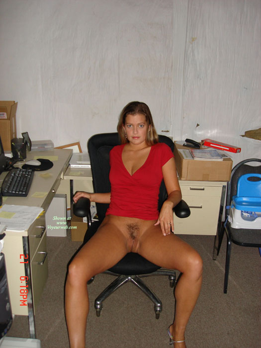 Bottomless Sexy Girl At Office - Dark Hair, Naked Girl , Sitting In Office Chair, Pussy At The Office, Red Top, Twat Shot, Sexy Girl In Office Outfit, Secretary Snatch, Pantieless On Office Chair, Bottomless Office Girl, Bottomless, Open Legs In Chair