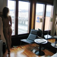 Mirrored Naked Girl Looking Out Upper Floor Window , Hotel Room Dream, Standing Butt View, Great Show In The Mirror, Mirror Image, Naked In Stockholm, Ass View Posing In Mirror, Back Side Of A Girl Looking Through The Windows Of A High Rise And Her Reflection In Mirror, Naked By Window, Leaning Against The Wall