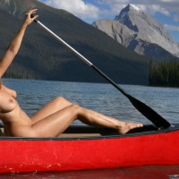 Naked In A Canoe - Blonde Hair, Large Breasts, Nude Outdoors, Naked Girl, Nude Amateur , Long Haired Strawberry Blonde, Firm Body, Large Upturned Breasts, Athletic Body, Sexy In Nature, Mountain Lake, Naked Outdoors, Outdoor Nude Beauty