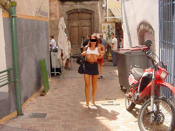 Pic #1 Monique Flashing On The Street From France