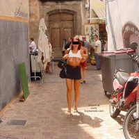 Monique Flashing On The Street From France