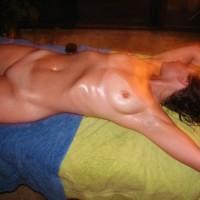 Wife enjoying a massage