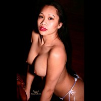 Oriental Topless - Big Tits, Black Hair, Large Breasts, Red Hair, Topless , Topless Leaning On Chair, Big Titted Asian, Fake Tits, Asian Girl, Asian Face, Juicy Red Lips