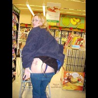 Tattoo On Bum , Tattoo On Bum, Grocery Store, Ass Flash In Store, Mooning
