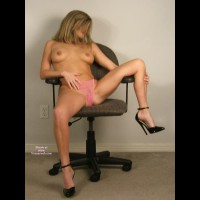 "Very High Heels - Erect Nipples, Heels, Spread Legs, Topless, Sexy Feet, Sexy Shoes, Sexy Wife, Topless Wife , Sheer Pink Panty, Black Ankle Strap Spike Heel, Amateur Sitting Topless, Arched Feet, On A Chair, 6"" Black Anklewrap D'orsey Pump, Frontal Seated On Chair, Topless Pose"