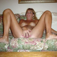 Fully Nude On A Couch - Spread Legs , Fully Nude On A Couch, Spreading Legs, Covering Pussy With Her Hand