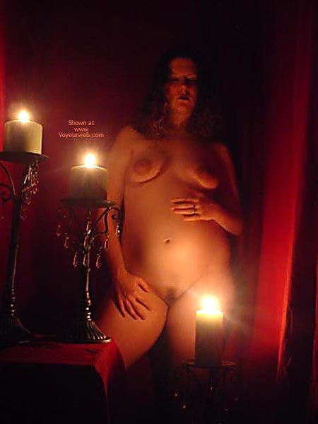 Candle Lit , Candle Lit, Candle Light Nude, Preggo, Small Floppy Tits, Huge Areolas, Naked And Pregnant By Candle Light