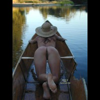 Ass And Pussy - Bend Over , Ass And Pussy, Bent Over, In A Boat, Straw Hat