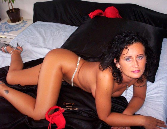 Short Black Hair - Bend Over, Short Hair , Short Black Hair, Black Satin Sheets, Bend Over