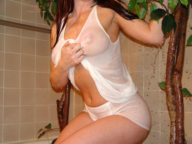 Wet Top - Wet , Wet Top, Wet Panty, Seethrough, Wet Skin, Dressed Under Shower, Torso, Wet T-shirt